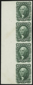Sale Number 905, Lot Number 1010, Essays and Proofs10c Blue Green, Plate Proof on Card (43P4), 10c Blue Green, Plate Proof on Card (43P4)