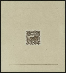 Sale Number 905, Lot Number 1027, Essays and Proofs2c Brown, Hybrid Large Die Proof on India (113P1 var), 2c Brown, Hybrid Large Die Proof on India (113P1 var)