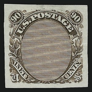 Sale Number 905, Lot Number 1066, Essays and Proofs90c Frame Only, Plate Essay on Stamp Paper (122-E3), 90c Frame Only, Plate Essay on Stamp Paper (122-E3)