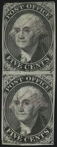 "Sale Number 905, Lot Number 1117, PostmastersNew York N.Y., 5c Black, ""ACM"" Initials (9X1), New York N.Y., 5c Black, ""ACM"" Initials (9X1)"