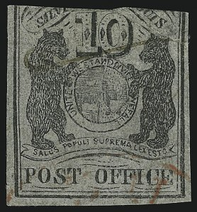 Sale Number 905, Lot Number 1129, PostmastersSt. Louis Mo., 10c Black on Bluish (11X8), St. Louis Mo., 10c Black on Bluish (11X8)