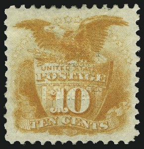 Sale Number 905, Lot Number 1615, 1869 Pictorial Issue10c Yellow (116), 10c Yellow (116)