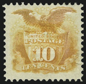 Sale Number 905, Lot Number 1617, 1869 Pictorial Issue10c Yellow (116), 10c Yellow (116)