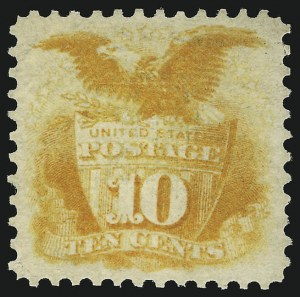 Sale Number 905, Lot Number 1619, 1869 Pictorial Issue10c Yellow (116), 10c Yellow (116)