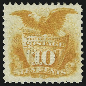 Sale Number 905, Lot Number 1620, 1869 Pictorial Issue10c Yellow (116), 10c Yellow (116)