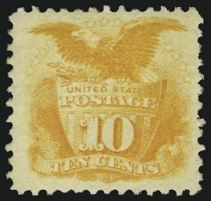 Sale Number 905, Lot Number 1621, 1869 Pictorial Issue10c Yellow (116), 10c Yellow (116)