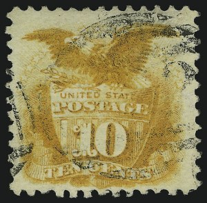 Sale Number 905, Lot Number 1622, 1869 Pictorial Issue10c Yellow (116), 10c Yellow (116)