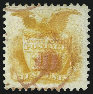 Sale Number 905, Lot Number 1623, 1869 Pictorial Issue10c Yellow (116), 10c Yellow (116)