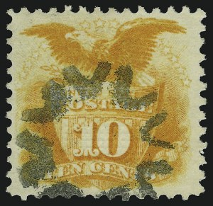 Sale Number 905, Lot Number 1625, 1869 Pictorial Issue10c Yellow (116), 10c Yellow (116)