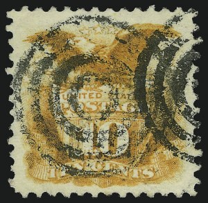 Sale Number 905, Lot Number 1626, 1869 Pictorial Issue10c Yellow (116), 10c Yellow (116)