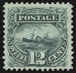 Sale Number 905, Lot Number 1629, 1869 Pictorial Issue12c Green (117), 12c Green (117)