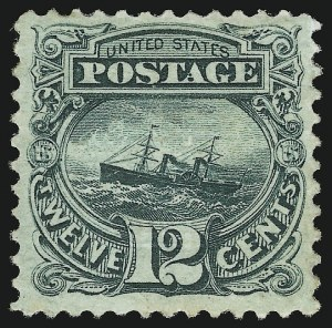 Sale Number 905, Lot Number 1631, 1869 Pictorial Issue12c Green (117), 12c Green (117)