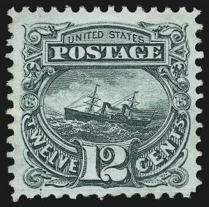 Sale Number 905, Lot Number 1634, 1869 Pictorial Issue12c Green (117), 12c Green (117)