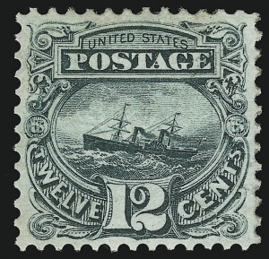 Sale Number 905, Lot Number 1635, 1869 Pictorial Issue12c Green (117), 12c Green (117)