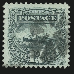 Sale Number 905, Lot Number 1642, 1869 Pictorial Issue12c Green (117), 12c Green (117)