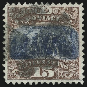Sale Number 905, Lot Number 1643, 1869 Pictorial Issue15c Brown & Blue, Ty. I (118), 15c Brown & Blue, Ty. I (118)