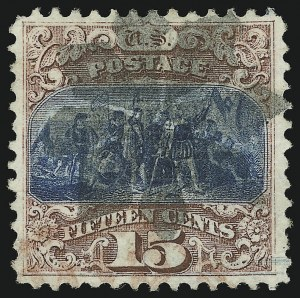 Sale Number 905, Lot Number 1646, 1869 Pictorial Issue15c Brown & Blue, Ty. I (118), 15c Brown & Blue, Ty. I (118)