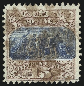 Sale Number 905, Lot Number 1647, 1869 Pictorial Issue15c Brown & Blue, Ty. I (118), 15c Brown & Blue, Ty. I (118)