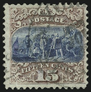 Sale Number 905, Lot Number 1653, 1869 Pictorial Issue15c Brown & Blue, Ty. I (118), 15c Brown & Blue, Ty. I (118)