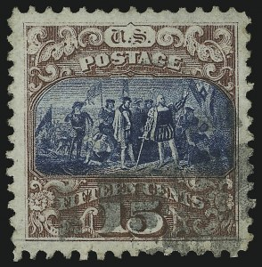 Sale Number 905, Lot Number 1656, 1869 Pictorial Issue15c Brown & Blue, Ty. II (119), 15c Brown & Blue, Ty. II (119)