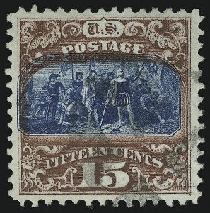 Sale Number 905, Lot Number 1657, 1869 Pictorial Issue15c Brown & Blue, Ty. II (119), 15c Brown & Blue, Ty. II (119)