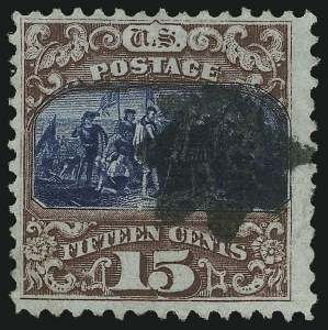 Sale Number 905, Lot Number 1662, 1869 Pictorial Issue15c Brown & Blue, Ty. II (119), 15c Brown & Blue, Ty. II (119)