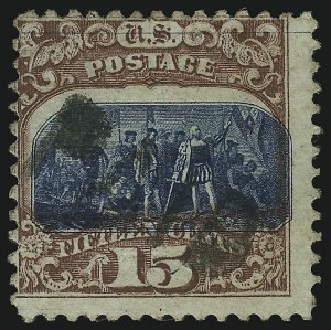 Sale Number 905, Lot Number 1663, 1869 Pictorial Issue15c Brown & Blue, Ty. II (119), 15c Brown & Blue, Ty. II (119)