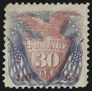Sale Number 905, Lot Number 1675, 1869 Pictorial Issue30c Ultramarine & Carmine (121), 30c Ultramarine & Carmine (121)