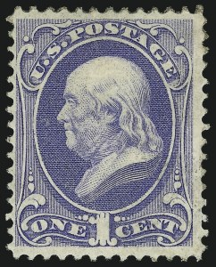 Sale Number 905, Lot Number 1752, 1870-88 Bank Note Issues (National Grills, Scott 134 thru 144)1c Ultramarine, Grill (134), 1c Ultramarine, Grill (134)