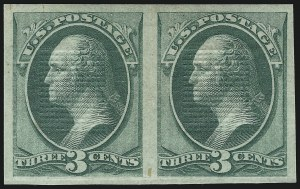 Sale Number 905, Lot Number 1761, 1870-88 Bank Note Issues (National Grills, Scott 134 thru 144)3c Green, Grill Imperforate (136a), 3c Green, Grill Imperforate (136a)