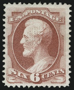 Sale Number 905, Lot Number 1762, 1870-88 Bank Note Issues (National Grills, Scott 134 thru 144)6c Carmine, Grill (137), 6c Carmine, Grill (137)
