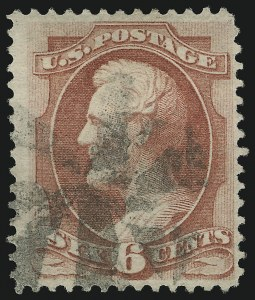 Sale Number 905, Lot Number 1766, 1870-88 Bank Note Issues (National Grills, Scott 134 thru 144)6c Carmine, Grill (137), 6c Carmine, Grill (137)