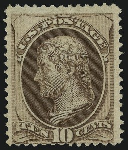 Sale Number 905, Lot Number 1772, 1870-88 Bank Note Issues (National Grills, Scott 134 thru 144)10c Brown, Grill (139), 10c Brown, Grill (139)
