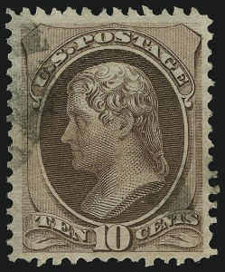 Sale Number 905, Lot Number 1773, 1870-88 Bank Note Issues (National Grills, Scott 134 thru 144)10c Brown, Grill (139), 10c Brown, Grill (139)