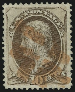 Sale Number 905, Lot Number 1775, 1870-88 Bank Note Issues (National Grills, Scott 134 thru 144)10c Brown, Grill (139), 10c Brown, Grill (139)