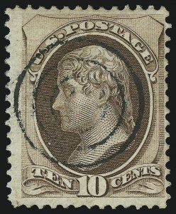 Sale Number 905, Lot Number 1776, 1870-88 Bank Note Issues (National Grills, Scott 134 thru 144)10c Brown, Grill (139), 10c Brown, Grill (139)