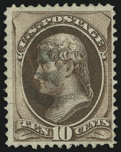 Sale Number 905, Lot Number 1777, 1870-88 Bank Note Issues (National Grills, Scott 134 thru 144)10c Brown, Grill (139), 10c Brown, Grill (139)