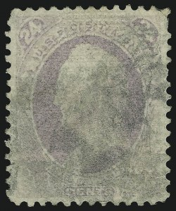 Sale Number 905, Lot Number 1782, 1870-88 Bank Note Issues (National Grills, Scott 134 thru 144)24c Purple, Grill (142), 24c Purple, Grill (142)