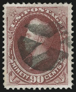 Sale Number 905, Lot Number 1786, 1870-88 Bank Note Issues (National Grills, Scott 134 thru 144)90c Carmine, Grill (144), 90c Carmine, Grill (144)