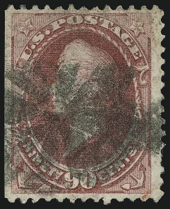 Sale Number 905, Lot Number 1787, 1870-88 Bank Note Issues (National Grills, Scott 134 thru 144)90c Carmine, Grill (144), 90c Carmine, Grill (144)