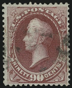 Sale Number 905, Lot Number 1788, 1870-88 Bank Note Issues (National Grills, Scott 134 thru 144)90c Carmine, Grill (144), 90c Carmine, Grill (144)