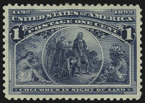 Sale Number 905, Lot Number 1980, 1893 Columbian Issue1c Columbian (230), 1c Columbian (230)