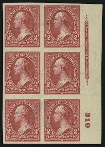 Sale Number 905, Lot Number 2142, 1894-98 Bureau Issues (Scott 264 thru 284)2c Carmine, Ty. III, Imperforate (267a), 2c Carmine, Ty. III, Imperforate (267a)