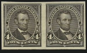 Sale Number 905, Lot Number 2144, 1894-98 Bureau Issues (Scott 264 thru 284)4c Dark Brown, Imperforate (269a), 4c Dark Brown, Imperforate (269a)