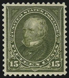 Sale Number 905, Lot Number 2192, 1894-98 Bureau Issues (Scott 264 thru 284)15c Olive Green (284), 15c Olive Green (284)