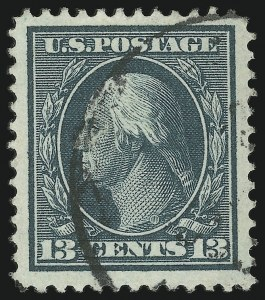 Sale Number 905, Lot Number 2389, 1908-09 Washington-Franklin Issues (Scott 331 thru 356)13c Blue Green (339), 13c Blue Green (339)