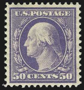 Sale Number 905, Lot Number 2392, 1908-09 Washington-Franklin Issues (Scott 331 thru 356)50c Violet (341), 50c Violet (341)