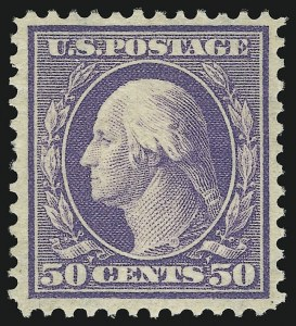 Sale Number 905, Lot Number 2393, 1908-09 Washington-Franklin Issues (Scott 331 thru 356)50c Violet (341), 50c Violet (341)
