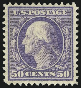 Sale Number 905, Lot Number 2394, 1908-09 Washington-Franklin Issues (Scott 331 thru 356)50c Violet (341), 50c Violet (341)
