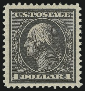 Sale Number 905, Lot Number 2395, 1908-09 Washington-Franklin Issues (Scott 331 thru 356)$1.00 Violet Brown (342), $1.00 Violet Brown (342)
